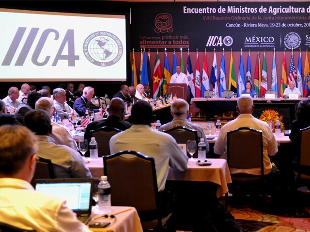"""El secretario José Calzada Rovirosa condujo los trabajos de la Plenaria de Ministros de Agricultura: """"Hacia una productividad competitiva, sustentable e incluyente; una oportunidad para la agricultura de las Américas""""."""