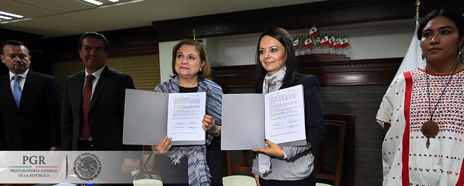 PGR y CDI firman convenio de colaboración en materia de asistencia jurídica internacional. Comunicado 646/15