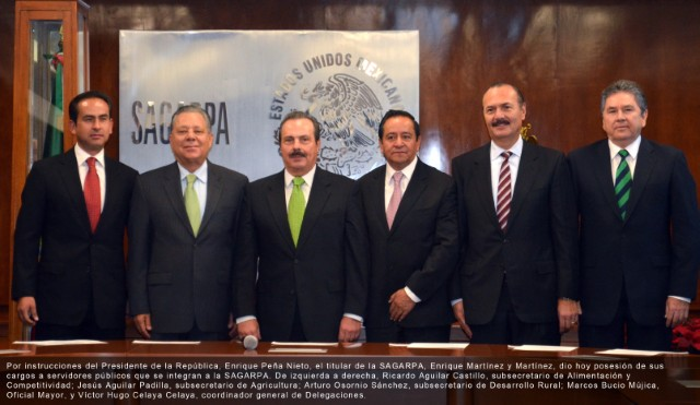 Presentan a Subsecretarios, Oficial Mayor y Coordinador General de Delegaciones de la SAGARPA