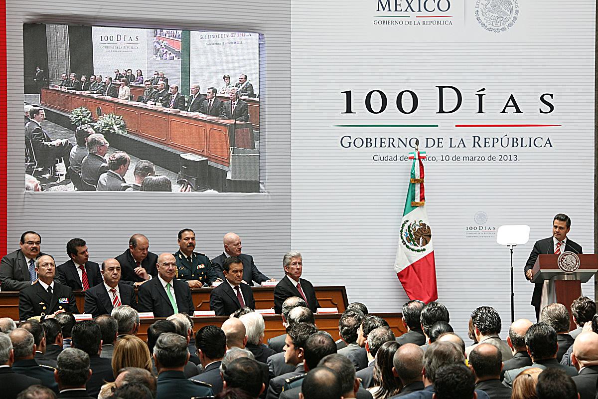 El Presidente Enrique Peña Nieto rindió cuentas a la sociedad mexicana de sus primeros Cien Días de gobierno.