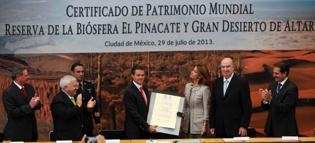 Pero, lo más importante, señor Presidente, es señalar que toda esta riqueza natural está aquí para que los mexicanos la aprovechemos sustentablemente.
