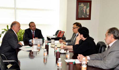 El Secretario del Trabajo y Previsión Social, Alfonso Navarrete Prida, recibió a la Secretaria General de la Confederación Sindical Internacional (CSI), Sharan Burrow.