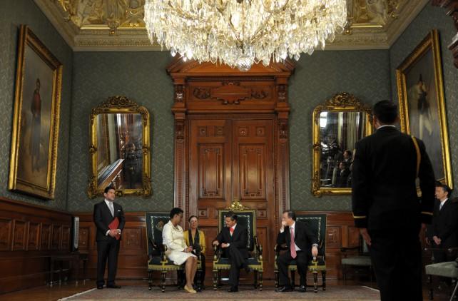 He tenido el honor de presentar las Cartas Credenciales al señor Presidente Enrique Peña Nieto.