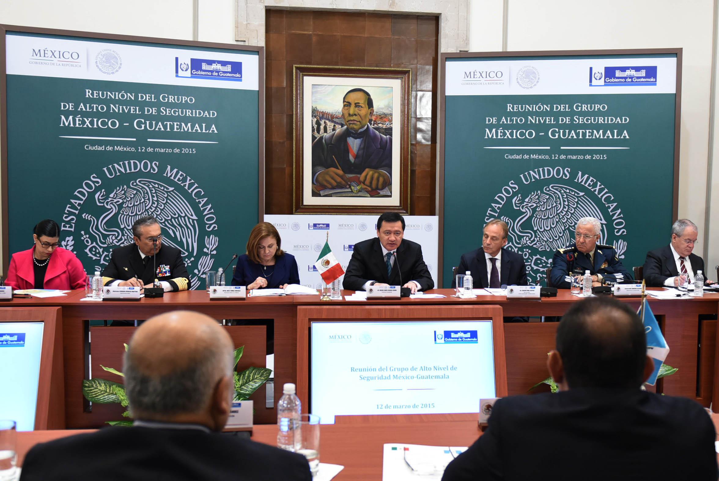 El Secretario de Gobernación, Miguel Ángel Osorio Chong, encabeza la Reunión del Grupo de Alto Nivel de Seguridad México-Guatemala