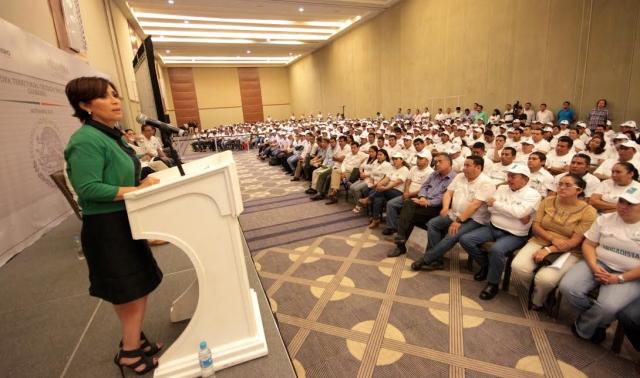 El Presidente Enrique Peña Nieto agradeció la importante labor que los integrantes de los Comités Comunitarios de la Cruzada Nacional contra el Hambre realizan en favor de México.