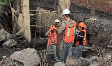Trabajos de infraestructura ambiental.