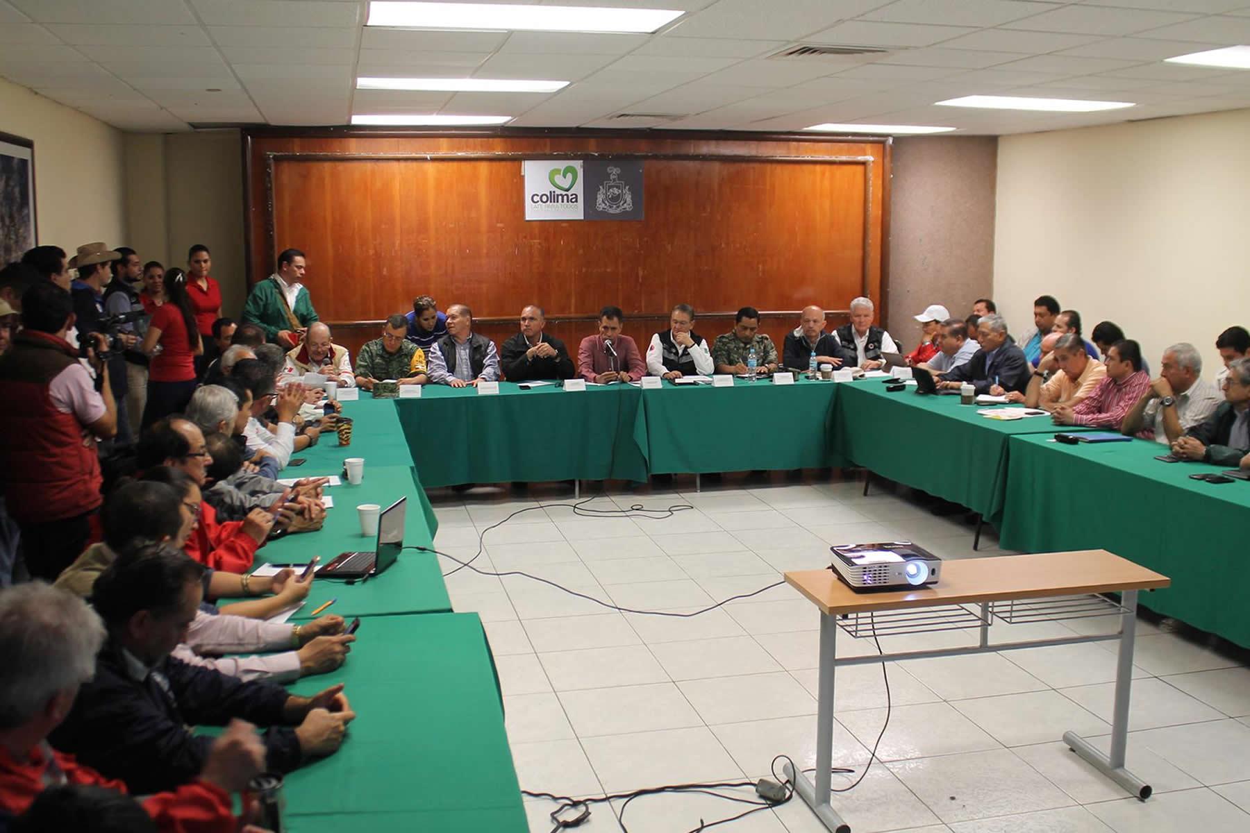 El secretario José Calzada Rovirosa, encabezó la instalación del Comité Estatal de Protección Civil en Colima.