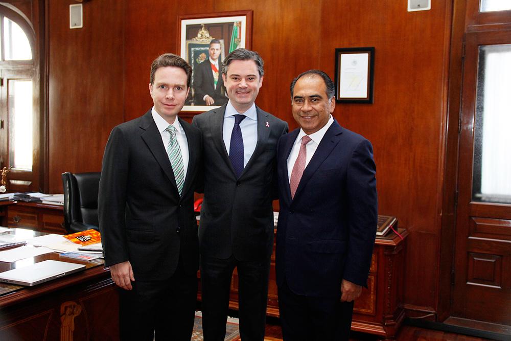Se reúne Nuño Mayer con los gobernadores de Chiapas, Oaxaca y Michoacán, así como el electo de Guerrero