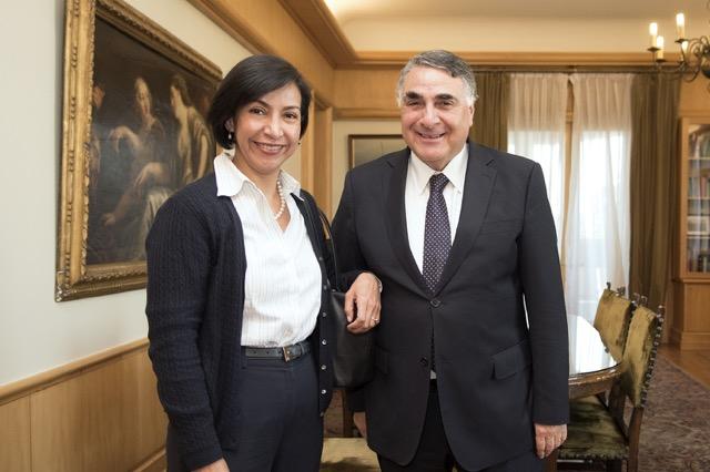 Subsecretaria para América Latina Y El Caribe, Socorro Flores Liera y el vicecanciller Edgardo Riveros de Chile