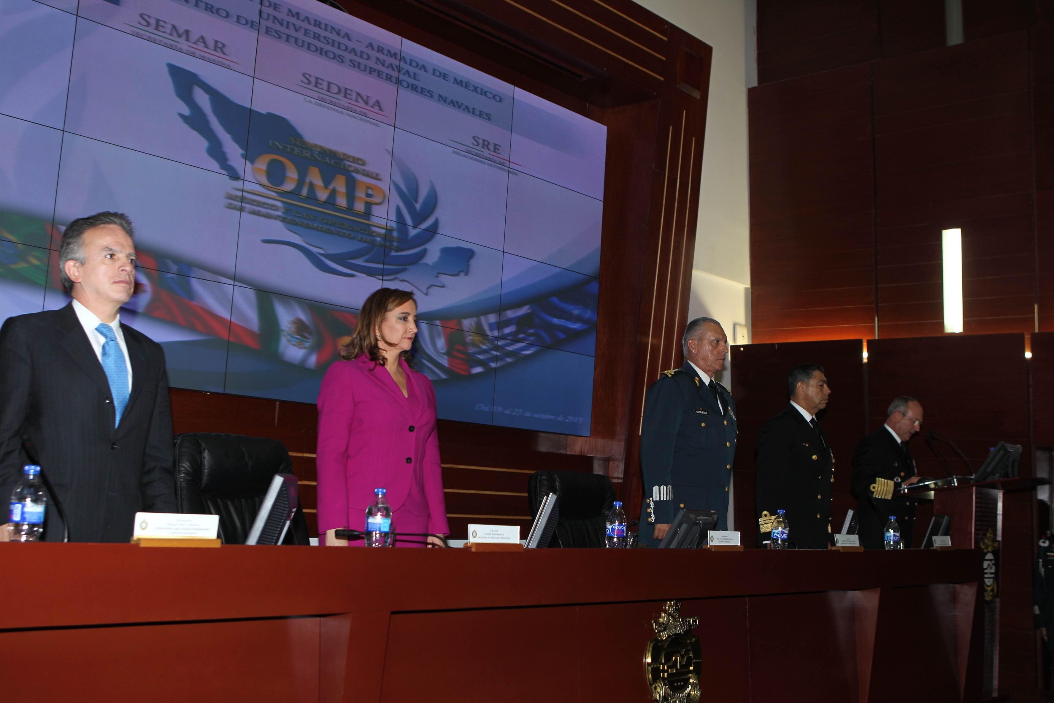 Clausura del seminario internacional México y las operaciones de mantenimiento de paz en el centro de estudios superiores navales
