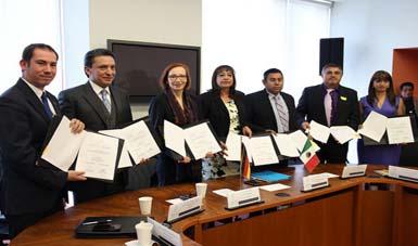 Firma de Convenios de Colaboración entre México y Alemania.