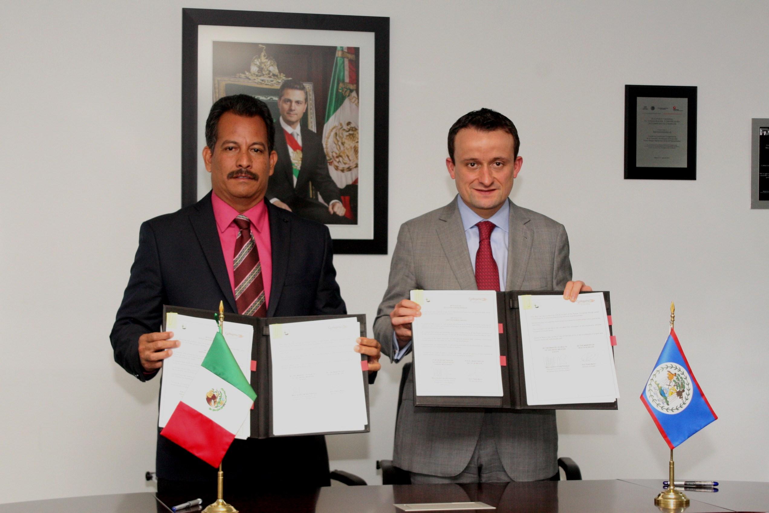 La COFEPRIS y el Ministerio de Salud de Belice firman Memorándum de Entendimiento