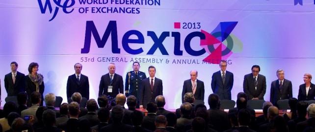 Para el sector financiero bursátil de México, es un honor recibir a nuestros colegas de todo el mundo, y este honor es aún mayor con su presencia, señor Presidente.