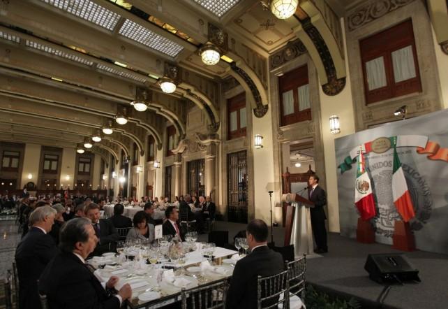 México quiere ser un actor con responsabilidad global y por eso queremos estar cada día más cerca de Irlanda.