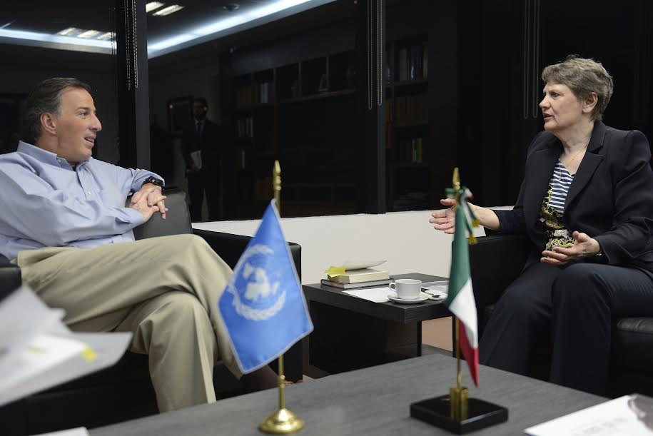 •El titular de Sedesol se reunió con Helen Clark, administradora del PNUD.