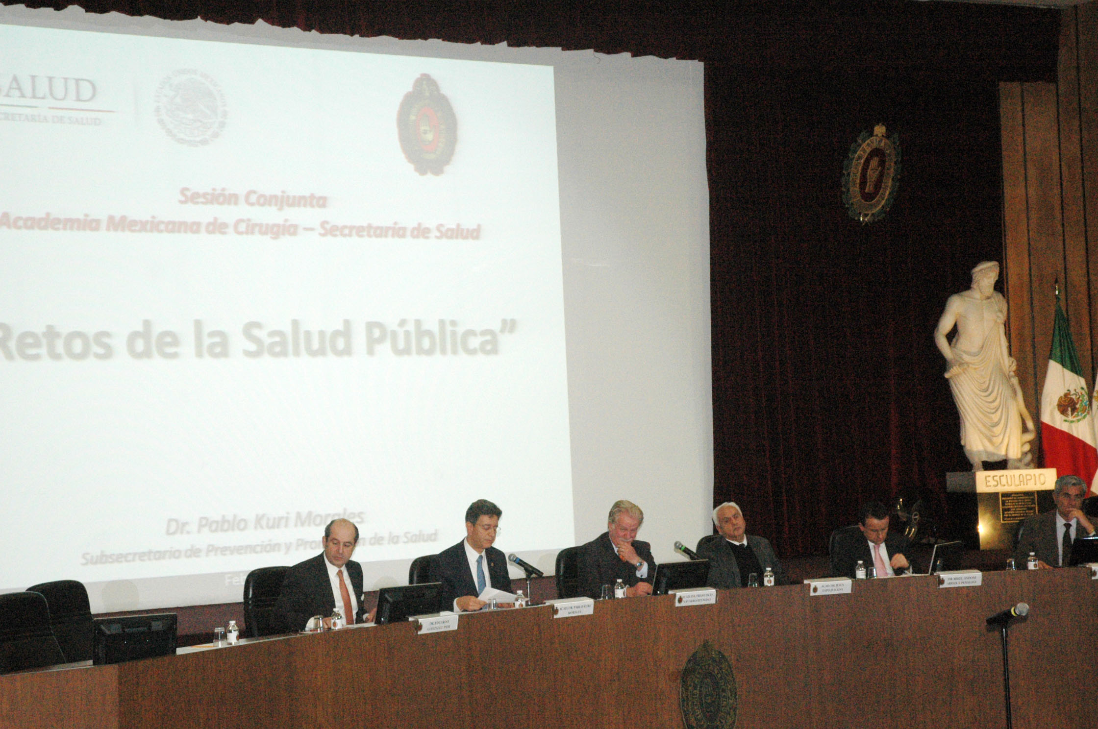 Sesión conjunta entre la Secretaría de Salud y la Academia Mexicana de Cirugía