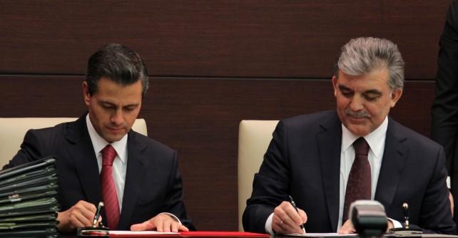 Firman los presidentes Enrique Peña Nieto y Abdullah Güll un acuerdo de cooperación estratégica y asociación para el siglo XXI