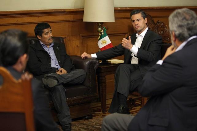 Recibió el Presidente de la República, al profesor tzotzil, Alberto Patishtán Gómez