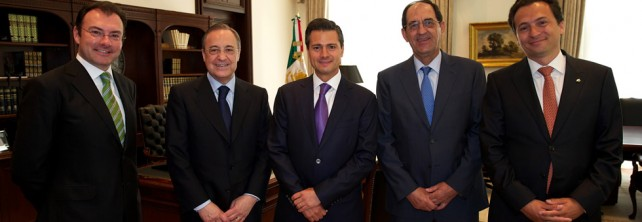 Se reúne el Presidente Peña Nieto con el Presidente del Consorcio Español ACS