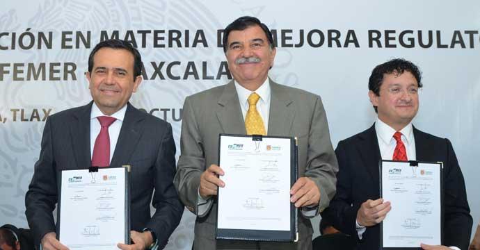 Firman Cofemer y Tlaxcala convenio de coordinación en materia de Mejora Regulatoria