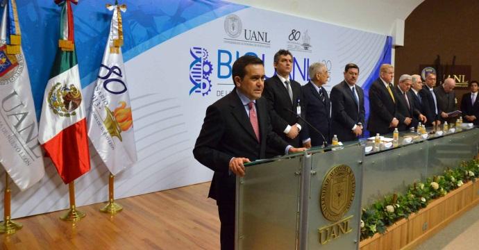 """Inauguró Ildefonso Guajardo Villarreal el Congreso Internacional """"Bio Uanl 2013, de la Biotecnología a la Bioeconomía en México"""""""