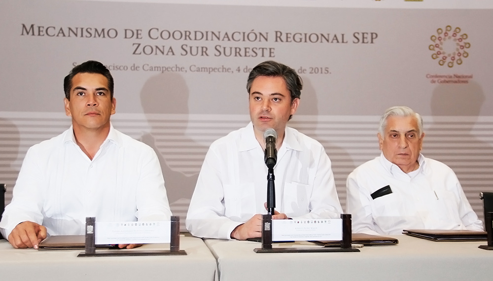 Firman mandatarios con el secretario de Educación Pública Declaración de Campeche