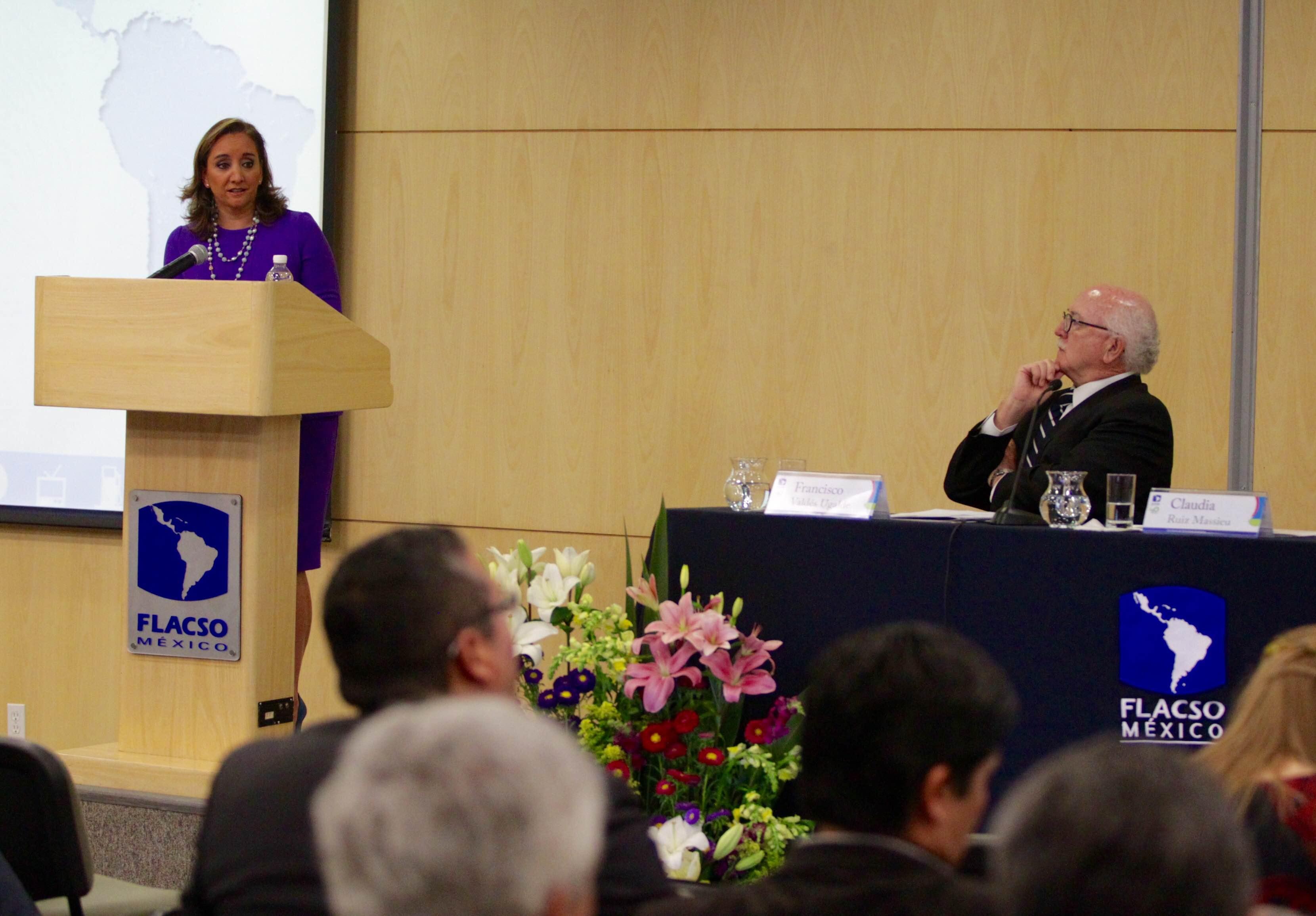 Canciller Claudia Ruiz Massieu en FLACSO
