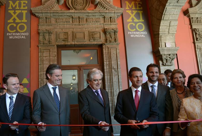 El Primer Mandatario inauguró una exhibición permanente con un espectáculo multimedia, que permitirá a los visitantes mexicanos y extranjeros conocer mejor la riqueza natural y cultural de México.