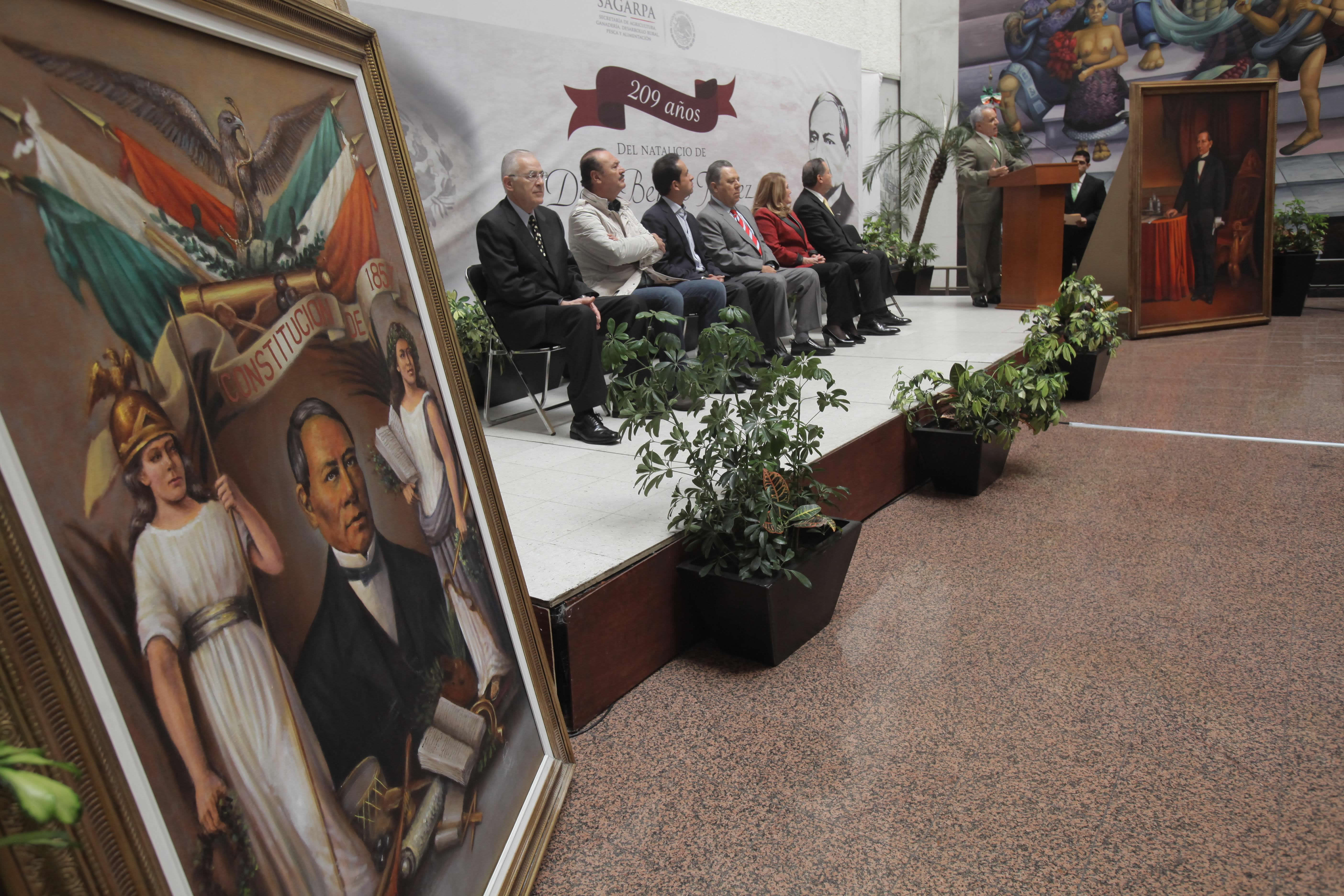 Conmemora SAGARPA CCIX Aniversario del Natalicio de Benito Juárez.