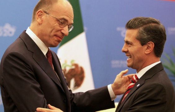 Coinciden Enrique Peña Nieto y Enrico Letta en fortalecer la relación entre México e Italia
