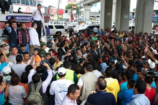 Coordina el Presidente Peña Nieto las tareas de auxilio  a la población afectada por los fenómenos climatológicos