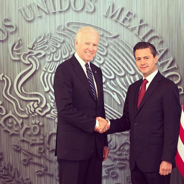 Coinciden el Presidente Peña Nieto y Joe Biden en el interés de México y EU por hacer de América del Norte la región más próspera del mundo
