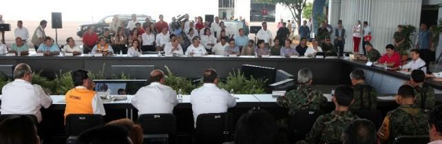 Autoridades federales realizan ante el Presidente de la República un balance de la situación del país por los fenómenos climatológicos