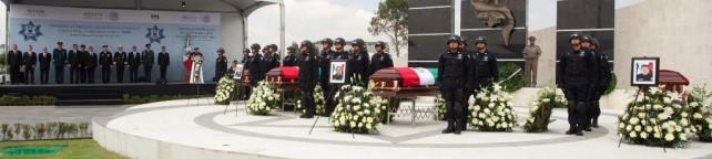 Encabezó el Presidente Peña Nieto el homenaje a los policías federales caídos en el cumplimiento de su deber