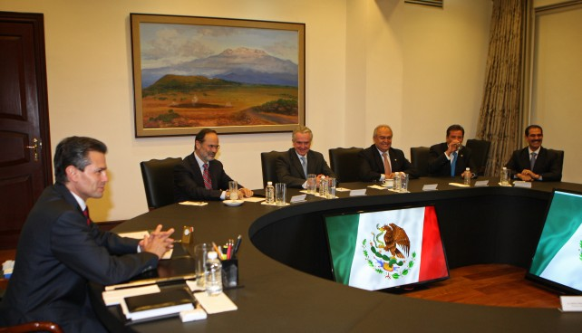Se reúne el Presidente Enrique Peña Nieto con la dirigencia del Partido Acción Nacional y sus Gobernadores