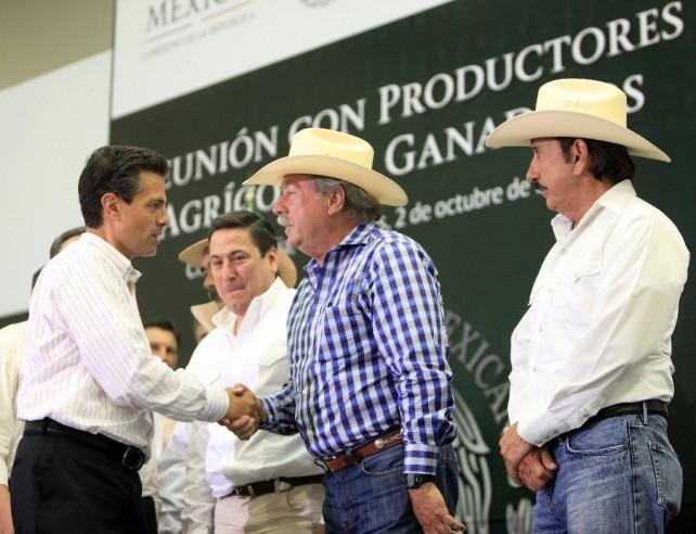 Instruye el Presidente Peña Nieto acelerar la indemnización a las familias que sufrieron daños en sus cultivos por los fenómenos climáticos