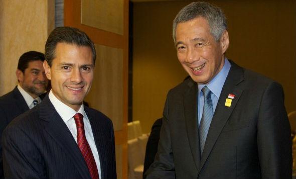 Se reúne el Presidente Peña Nieto con el Primer Ministro de Singapur, Lee Hsien Loong