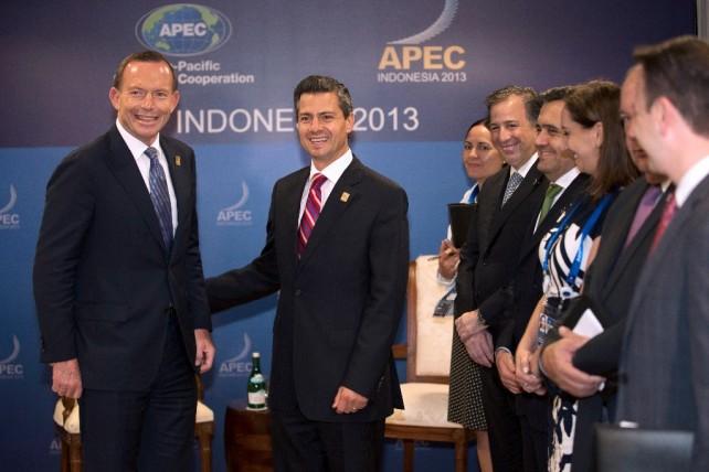 Se reúne el Presidente Peña Nieto con los mandatarios de Corea y Australia