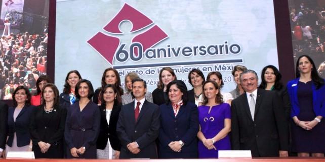 Firma el Presidente Peña Nieto una iniciativa para que 50 por ciento de las candidaturas al Congreso de la Unión sean para mujeres