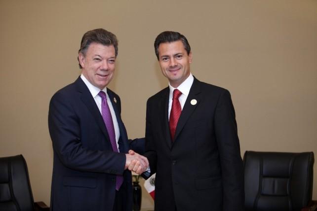 El Presidente Enrique Peña Nieto se reúne con su homólogo de Colombia, Juan Manuel Santos