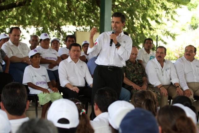 Anuncia el Presidente Peña Nieto la reubicación de la comunidad El Capricho, Guerrero