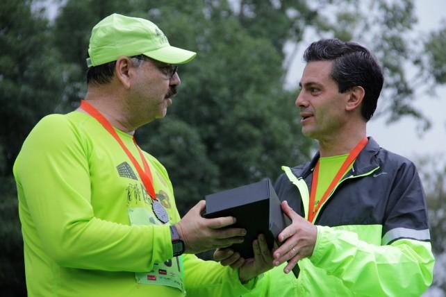 Entrevista que concedió el General de Brigada Diplomado de Estado Mayor Roberto Francisco Miranda Moreno, Jefe del Estado Mayor Presidencial, al término de la 3ª Carrera Molino del Rey