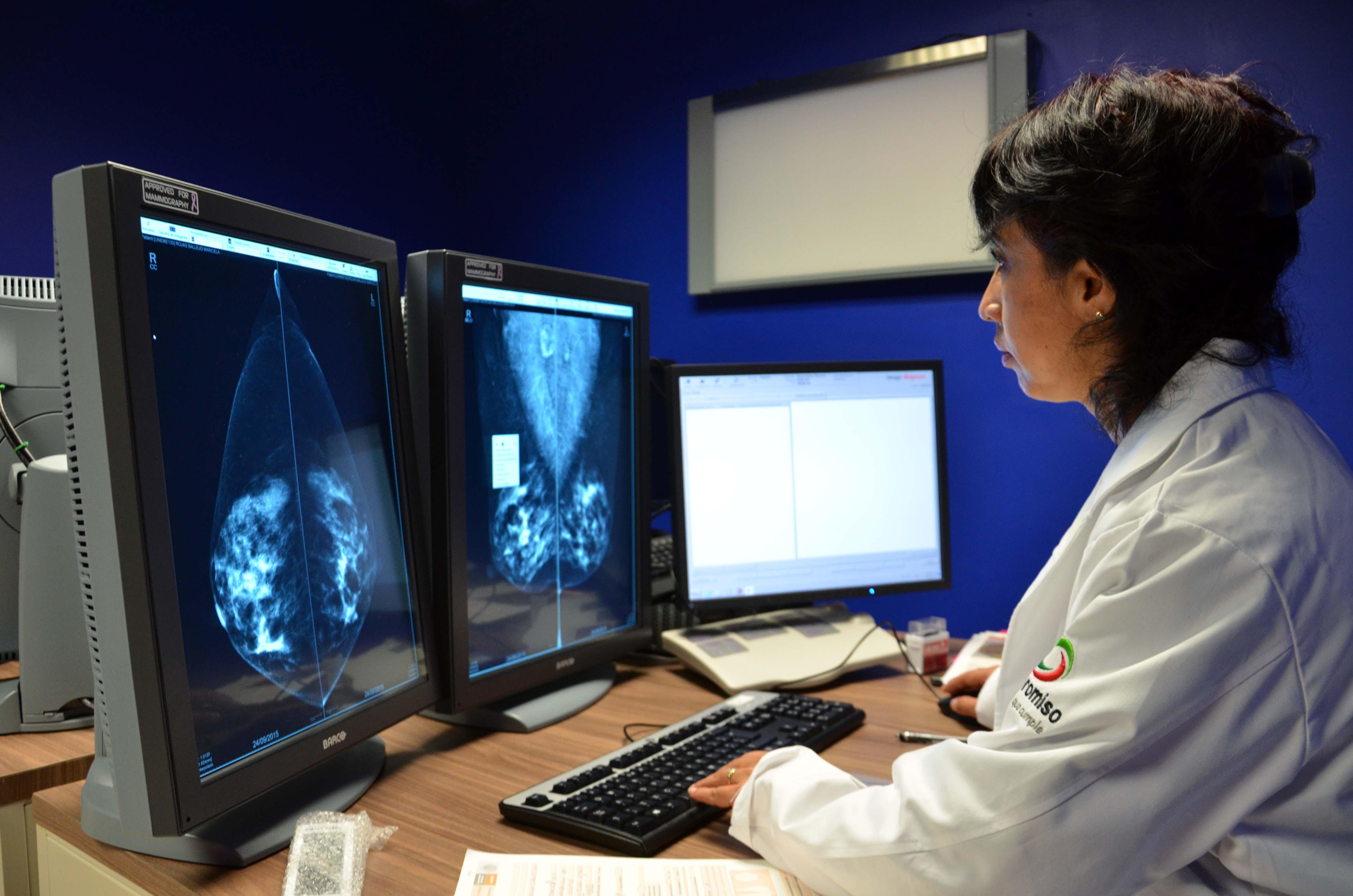 Utiliza como soporte técnico imágenes para diagnosticar enfermedades como el cáncer.