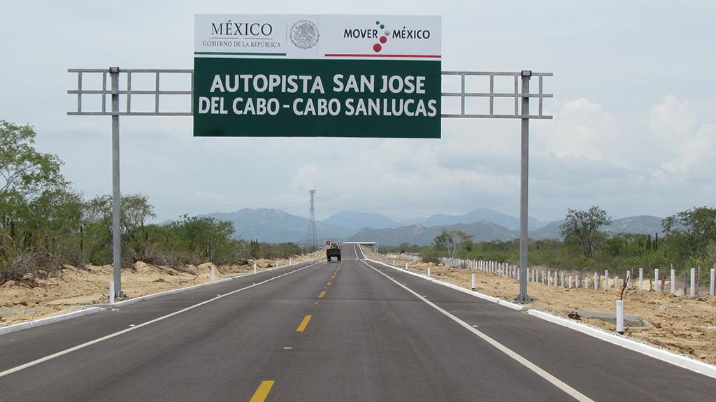 Invierte Gobierno Federal dos mil 500 mdp en autopista Cabo San Lucas - San José del Cabo