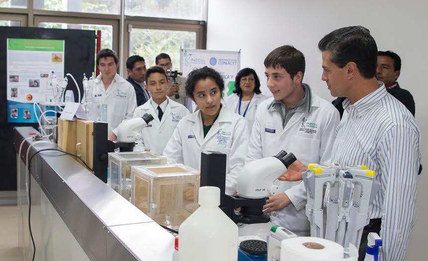 El Gobierno de la República, desde el inicio de esta Administración, dedicó esfuerzos y dedicó recursos para invertirlos en investigación y en el desarrollo de ciencia y tecnología, dijo el Primer Mandatario.