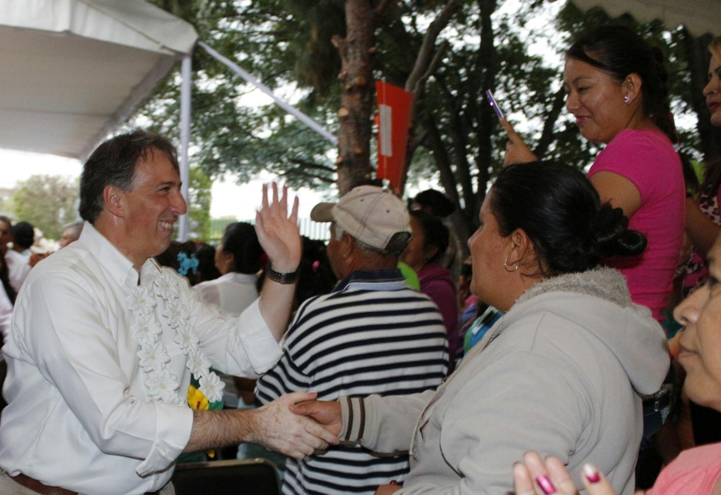 El secretario de Desarrollo Social, José Antonio Meade, en el municipio de Cerritos, San Luis Potosí, donde encabezó la clausura del Encuentro Médico Quirúrgico de Oftalmología IMSS-Prospera