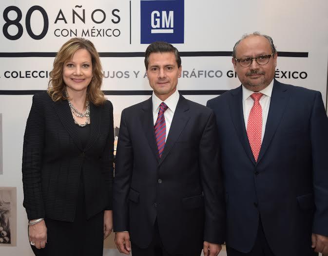 El Primer Mandatario asistió al 80 Aniversario de la automotriz General Motors en México, en donde la empresa anunció una inversión de 800 millones de dólares.