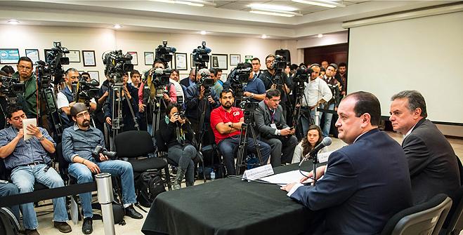 Conferencia de prensa en conjunto con la PGJDF sobre el accidente de pipa de gas en Cuajimalpa