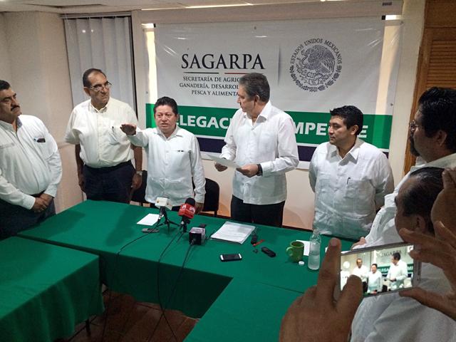 Toma de protesta al nuevo delegado de la SAGARPA en Campeche.