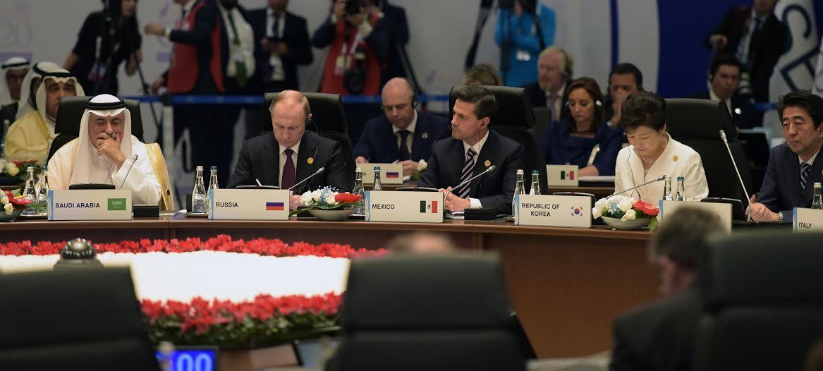 El Primer Mandatario participó en la Sesión sobre los dos retos globales de nuestro tiempo: terrorismo y la crisis de refugiados.